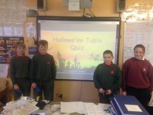 Halloween Table Quiz winners