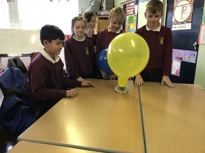 Making hovercrafts in fourth class