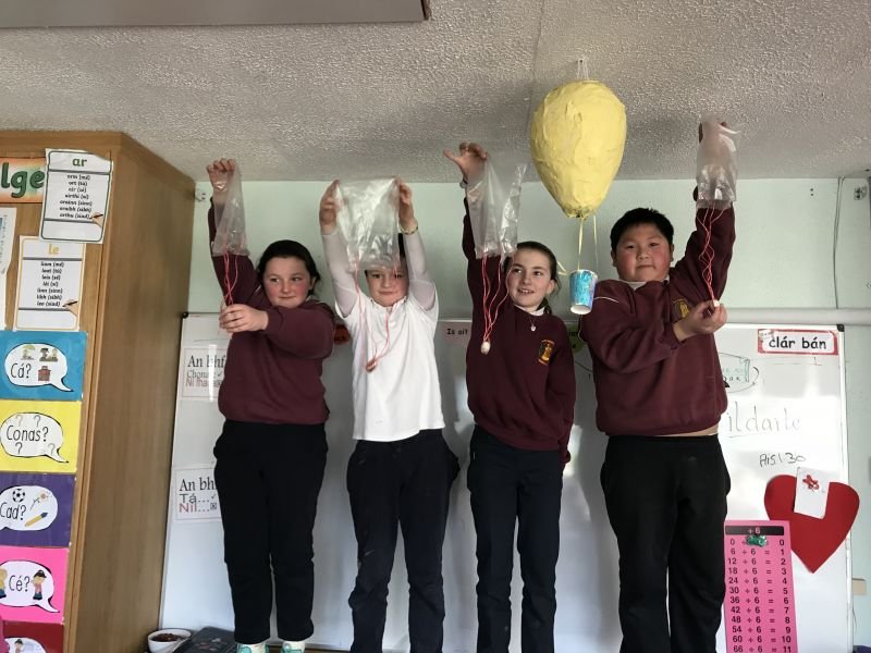 Parachute making in fourth class