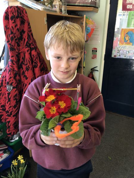 Mother's Day crafts in fourth class