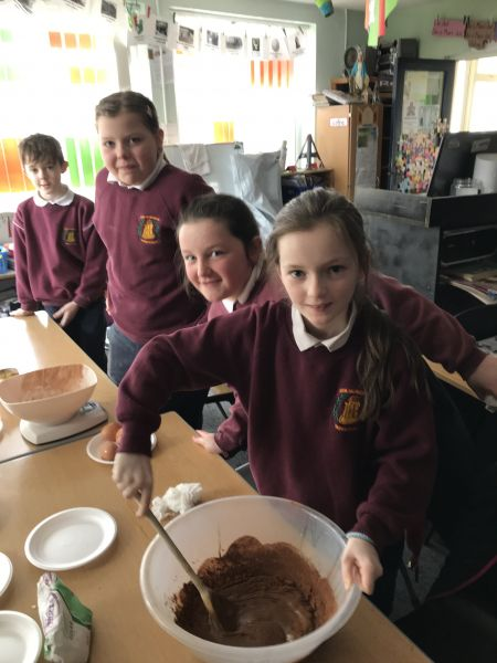 Baking of brownies in fourth class