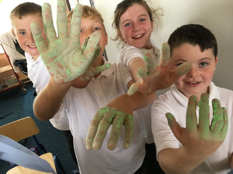 Making Slime in 2nd and 3rd class
