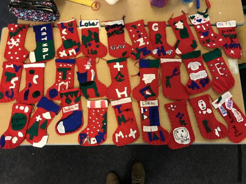 Sewing Christmas Stockings