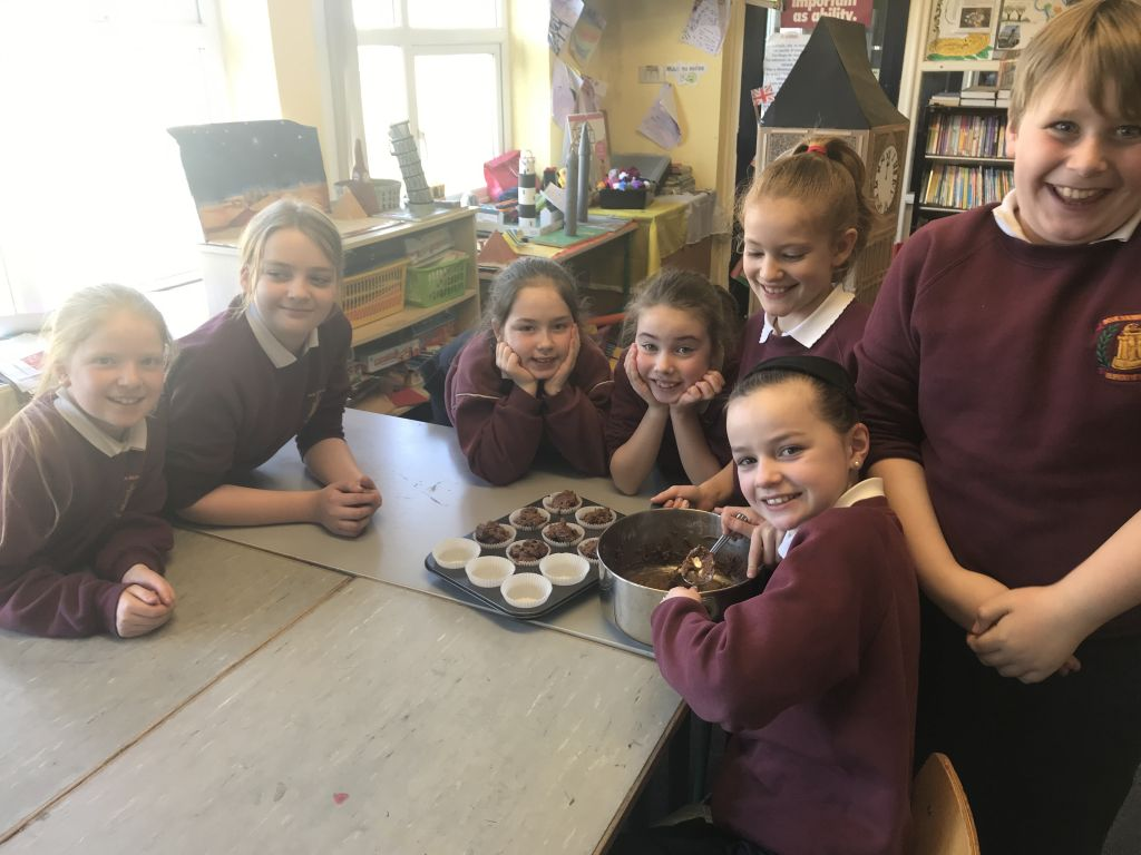 Baking 'mouth-watering muffins'with fourth class