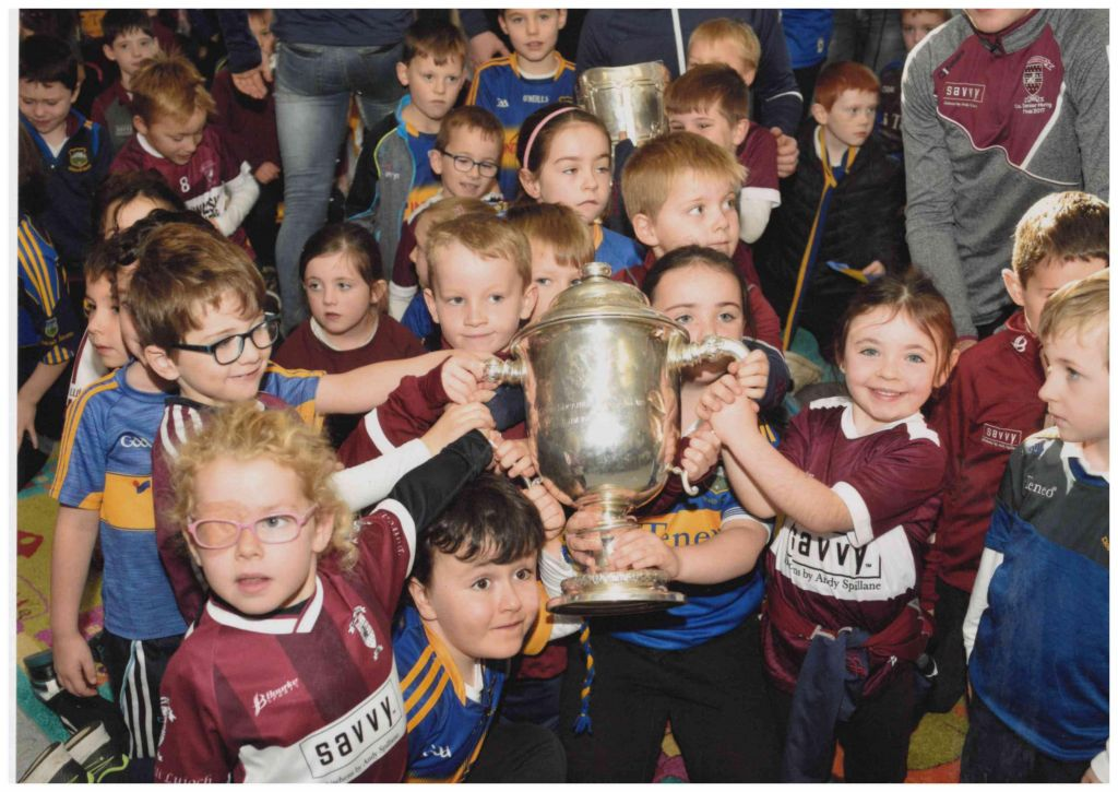 Dan Breen and Friends visit Scoil Naomh Cualán