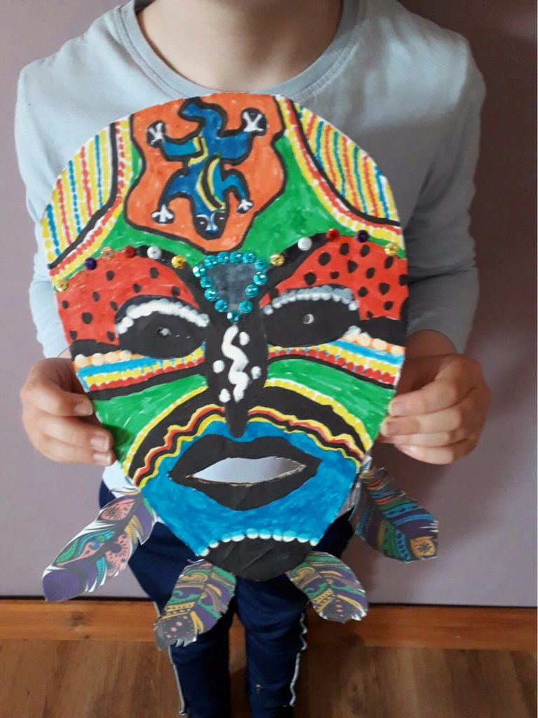 2nd Class African Masks and projects