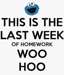 Homework Update June 2nd-5th